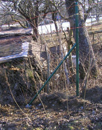 šikmá vzpera stĺpa pre plot
