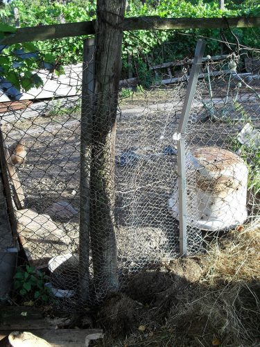 provizórna oprava plota